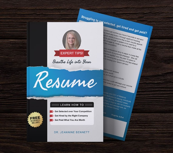 Professional Book Cover Design Resume